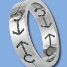 Stainless Steel Ring with Male Symbol (ZASGR-6)