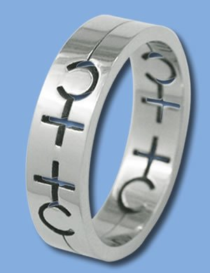 Stainless Steel Ring with Female Symbol (ZASGR-5)