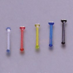 Plastic Nose Stud with Jewel (VN-1)