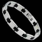 Stainless Steel/Rubber Bracelet (BSSR-2x)