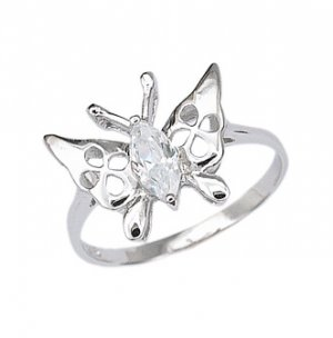 Sterling Silver Ring With Butterfly (231050)