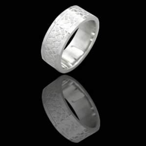 Stainless Steel Band W/ Engraved Design (RSLW-6)