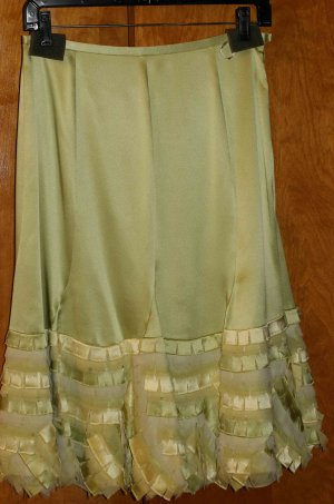 Silk Light Green Hobo Skirt