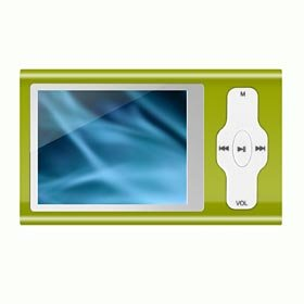 "MP4 MP3 Player 2.0"" TFT 4GB Green ""Spectrum"" Alloy Version w/Speaker"