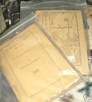 Horatio Alger Jr.VINTAGE 1920 MAKING HIS WAY PAPER BOOK