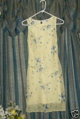 VINTAGE 70'S Jody California Spring Yellow DRESS sz 5