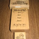 PSX Wedding Wood Mounted Rubber Stamps Lot Of 3 Retired Collectible