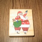 PSX Santa Claus Wood Mounted Rubber Stamp CG-3514 Retired Collectible