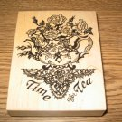 PSX Time For Tea Wood Mounted Rubber Stamp K-1362 Retired Collectible