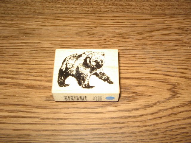 PSX Grizzly Bear Wood Mounted Rubber Stamp D-543 Retired Collectible