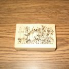 PSX Floral Picket Fence Wood Mounted Rubber Stamp F-470 Retired Collectible