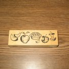 PSX Apple Pie Border Wood Mounted Rubber Stamp G-1659 Retired Collectible