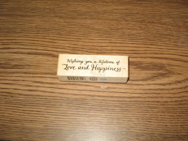 PSX Wishing You Love Wood Mounted Rubber Stamp C-3416 Retired Collectible