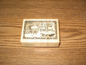 PSX All Hearts Come Home For Christmas Wood Mounted Rubber Stamp F-324 Retired Collectible