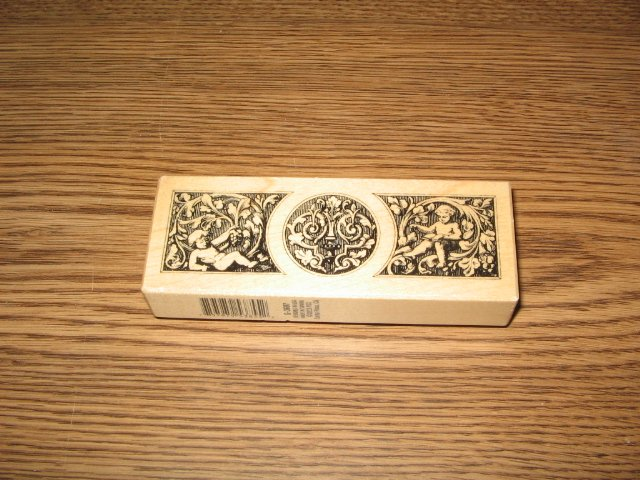PSX Cherub Border Wood Mounted Rubber Stamp G-3607 Retired Collectible
