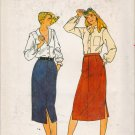 Vintage Sewing Pattern Misses' Straight Skirt Size 12 Butterick 6759 UNCUT