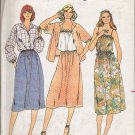 Vintage Sewing Pattern Junior Blouse Camisole Skirt Size 9-13 Butterick 6447 UNCUT
