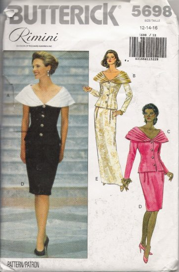 Misses' Evening Top & Skirt Rimini Sewing Pattern Size 12-16 Butterick 5698 UNCUT