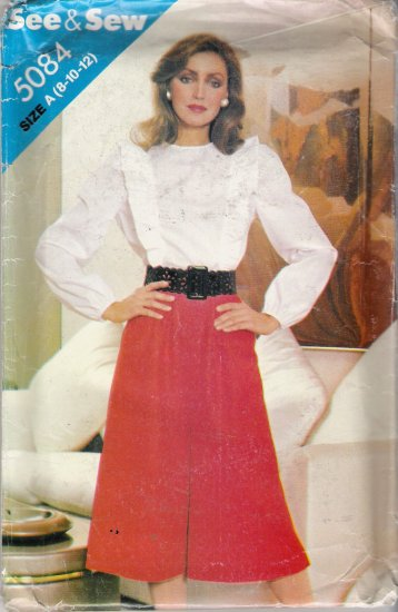 Misses' Blouse & Culottes Sewing Pattern Size 8-12 Butterick 5084 UNCUT