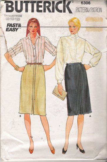 Misses' Straight Skirt Sewing Pattern Size 8-12 Butterick 6306 UNCUT