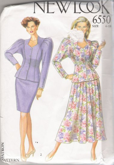 Misses' Jacket & Skirts Sewing Pattern Size 6-18 Simplicity New Look 6550 UNCUT