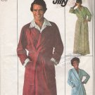 Vintage Sewing Pattern Men's Jiffy Front-Wrap Bathrobe 1976 Size L Simplicity 7741 UNCUT