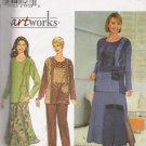 Misses' Top Skirt Pants Sewing Pattern Size 12-16 Simplicity 8246 UNCUT