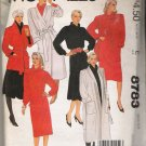 Misses' Coat Jacket Belt Dress Tunic Skirt Sewing Pattern Size S McCall's 8783 UNCUT