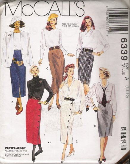 Misses' Skirts In Two Lengths Sewing Pattern Size 6-10 McCall's 6339 UNCUT