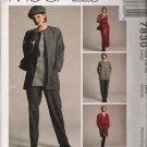 Misses' Jacket Tunic Tank Top Pants Skirt Sewing Pattern Size 16-18 McCall's 7830 UNCUT