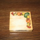 Fruit Border Wood Mounted Rubber Stamp by Comotion