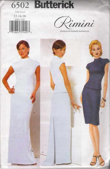Misses' Top & Skirt Sewing Pattern Size 12-16 Butterick 6502 UNCUT