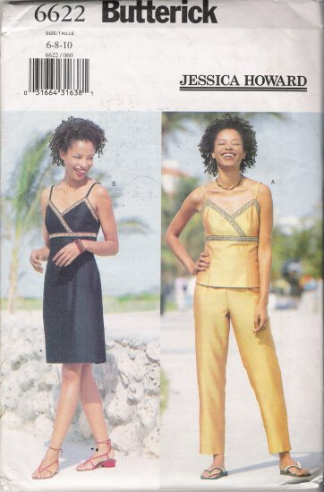 Misses' Top Dress Pants Sewing Pattern Size 6-10 Butterick 6622 UNCUT