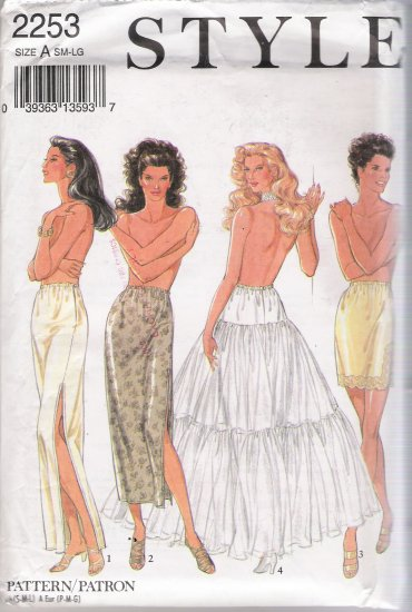 Misses' Half Slips & Underskirt Sewing Pattern Size SM-LG Style 2253 UNCUT