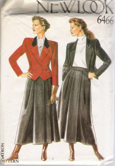 Misses' Skirt & Jacket Sewing Pattern Size 8-18 Simplicity New Look 6466 UNCUT