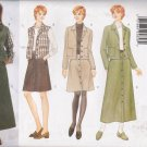 Misses' Jacket Vest Skirt Sewing Pattern Size L-XL Butterick 5087 UNCUT