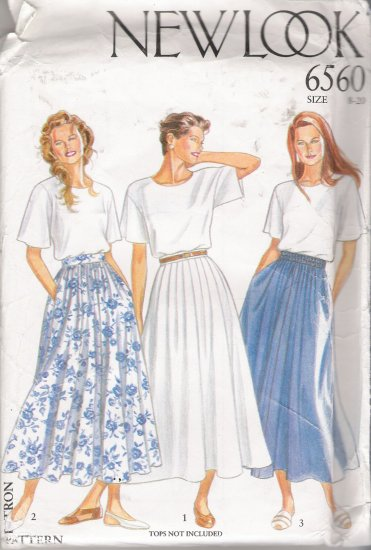 Misses' Skirt Sewing Pattern Size 8-20 Simplicity New Look 6560 UNCUT