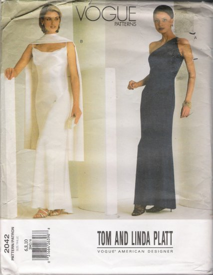 Misses' Dress Sewing Pattern Size 6-10 Vogue 2042 UNCUT