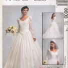 Misses' Bridal Gown Sewing Pattern Size 12 McCall's 8003 UNCUT