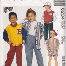 Children's Jacket Shirt Pants Shorts Hat Sewing Pattern Size 3-4 McCall's 6234 UNCUT