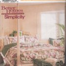 Bedroom Basics Comforter Pillow Shams Sewing Pattern Simplicity 8037 UNCUT