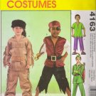 Children's Boys' Costume Sewing Pattern Size 3-8 McCall's 4163 UNCUT