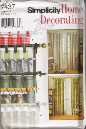 Claudine Curtain Valance Sewing Pattern
