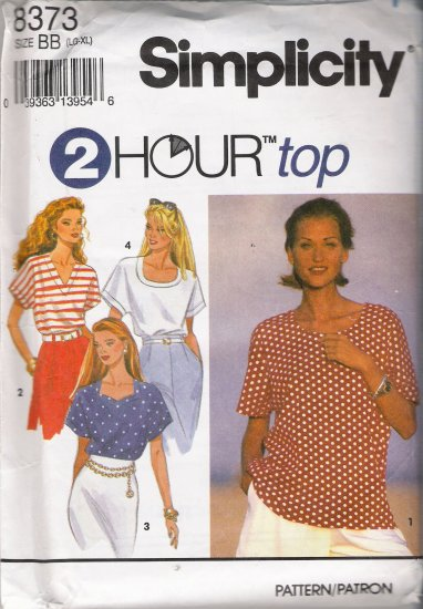 Misses' Top Sewing Pattern Size LG-XL Simplicity 8373 UNCUT