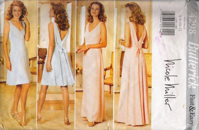 Misses' Dress Sewing Pattern Size 6-12 Butterick 4298 UNCUT