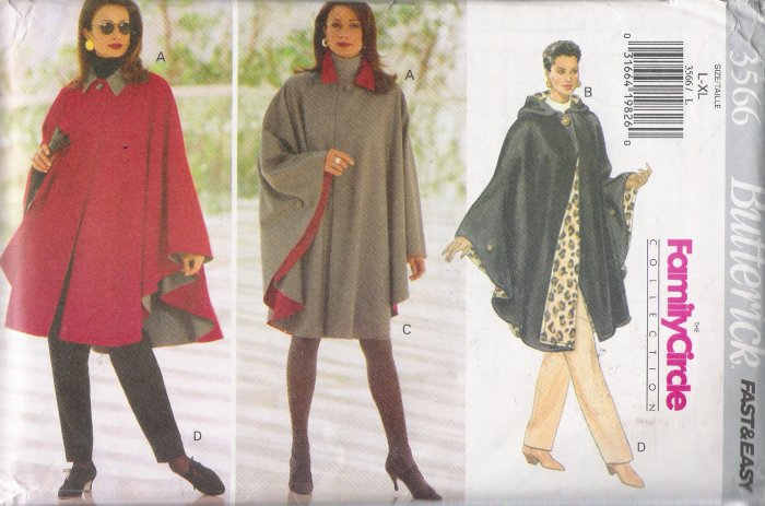 Misses' Cape, Skirt & Pants Sewing Pattern Size L-XL Butterick 3566 UNCUT