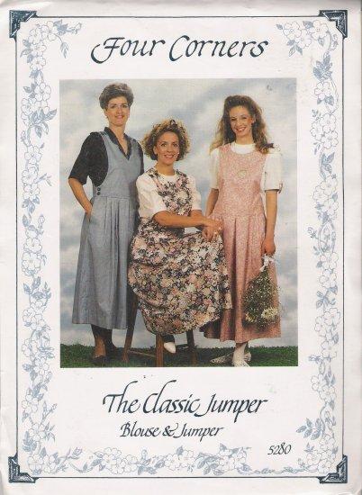Classic Jumper & Blouse Sewing Pattern Size P-XL Four Corners 5280 UNCUT