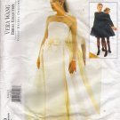 Misses' Bridal Dress & Overskirt Wedding Sewing Pattern Size 8-12 Vogue 1583 UNCUT