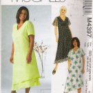 Women's Dresses In Two Lengths Plus Size Sewing Pattern Size 18-24 McCall's 4397 UNCUT