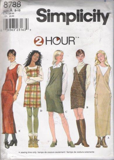 Misses' Jumper Sewing Pattern Size 8-18 Simplicity 8788 UNCUT